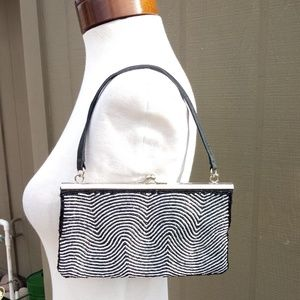 Black and Silver Beaded purse